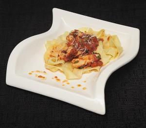 pasta w bricked chicken