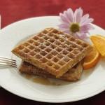 Waffles with walnuts & orange rind