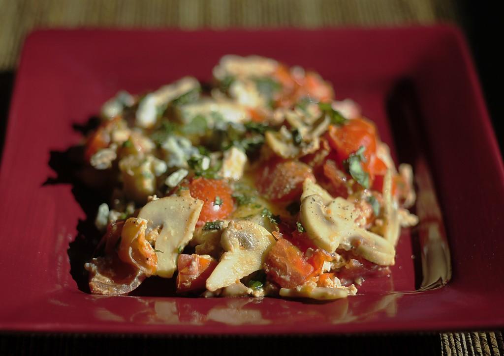 Quick & easy egg & vegetable breakfast
