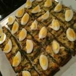 Frittata with quail eggs