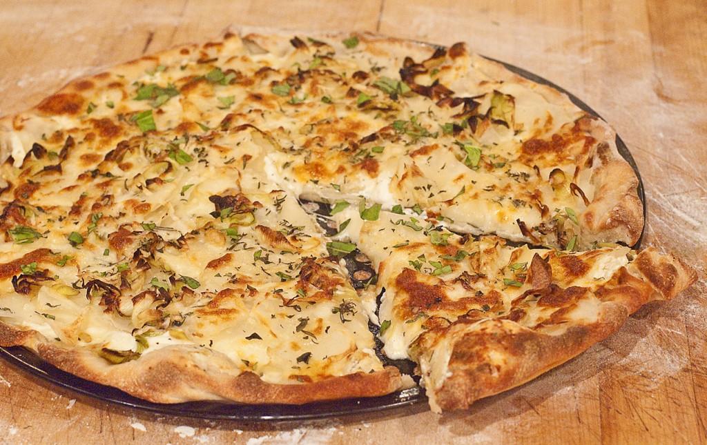 White Pizza ready to eat!