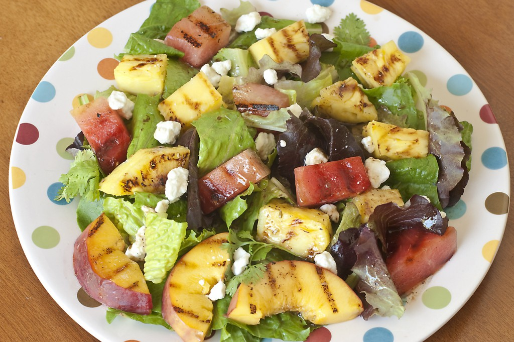 Grilled Fruit Salad with Goat Cheese and Jalapeño Vinaigrette ...